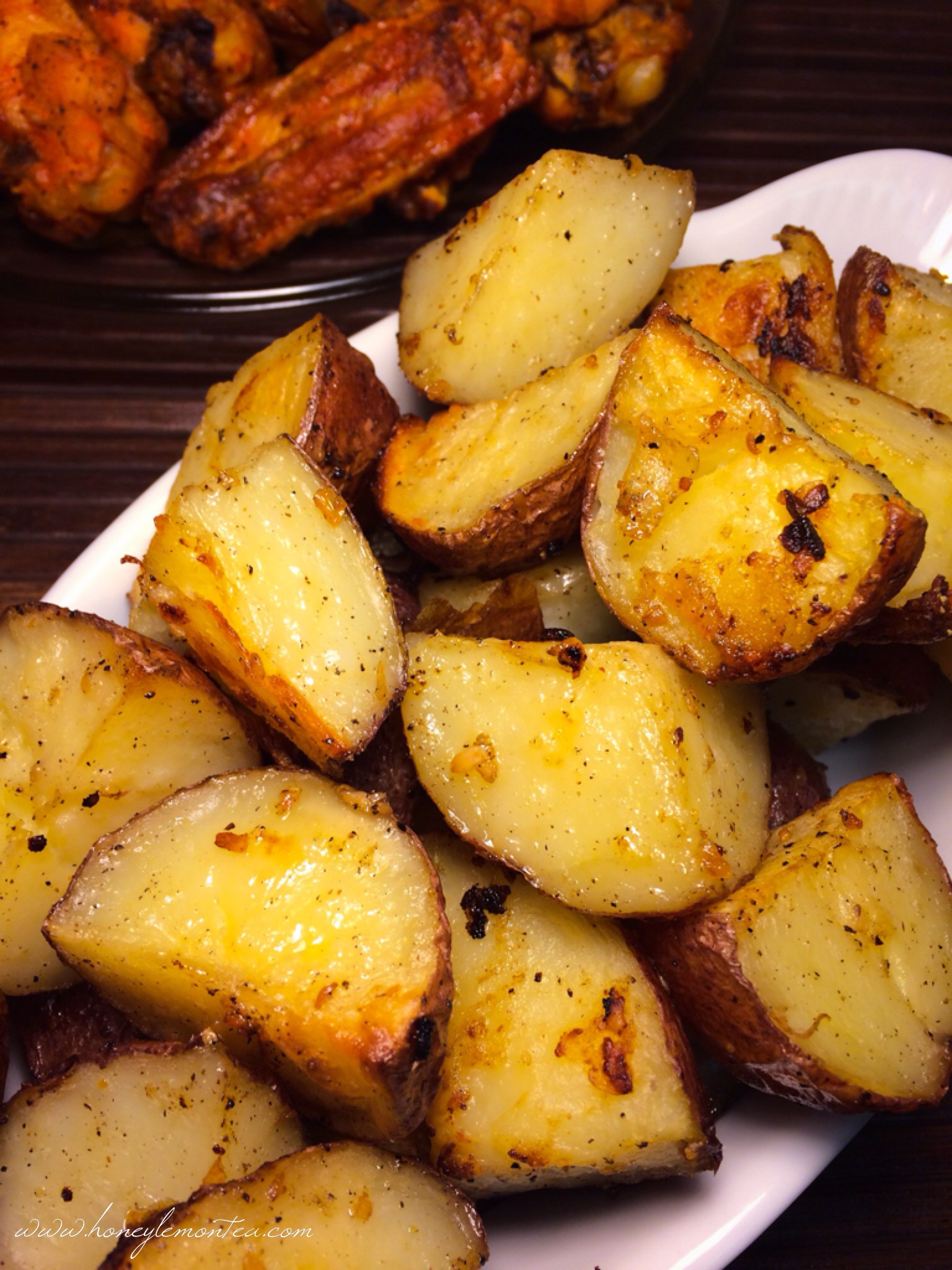 Parmesan Garlic Roasted Red Potatoes « Honey Lemon Tea